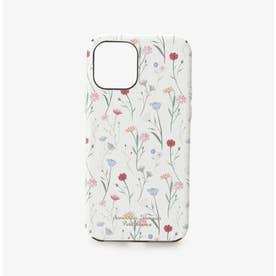 iPhone12-12proケース スプリンクルフラワー (ホワイト)