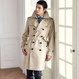 <100年コート>ダブルトレンチコート (ベージュ)