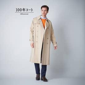 <100年コート>クラシックダブルトレンチコート(三陽格子) (ベージュ)