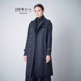 <100年コート>クラシックトレンチコート(三陽格子) (ネイビー)