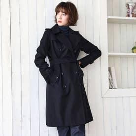 <100年コート>ダブルトレンチコート(三陽格子) (ネイビー)