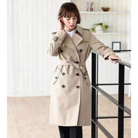<100年コート>ダブルトレンチコート(三陽格子) (ベージュ)