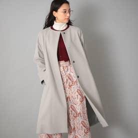 <Rain Wool>カシミヤ混カラーレスコート (グレー)
