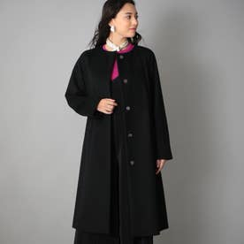 <Rain Wool>カシミヤ混カラーレスコート (ブラック)