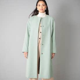 <Rain Wool>カシミヤ混カラーレスコート (グリーン)