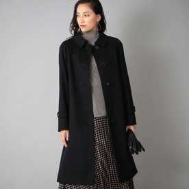 <Rain Wool>カシミヤ混バルマカーンコート (ブラック)