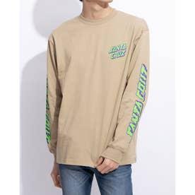 メンズ長袖Tシャツ(ベージュ)
