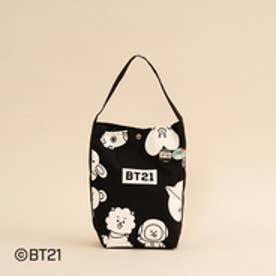 【unit】BT21 キャラクターロゴショルダーバッグ (ブラック)