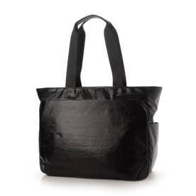 ビジネスにも使える 軽量、撥水のメタリック素材トートバッグ  Sactave (ブラック)
