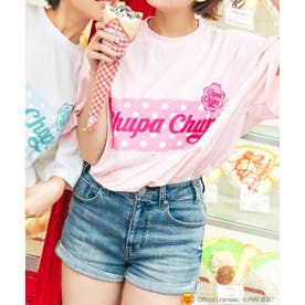 チュッパチャプスコラボ Tシャツ (ピンク)