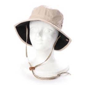 レディースUVカット帽子C868 RABBIT (カーキ×ブラック)