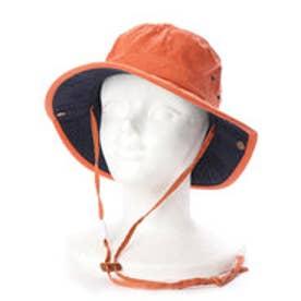 レディースUVカット帽子C868 RABBIT (オレンジ×ネイビー)