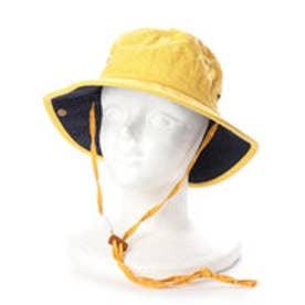 レディースUVカット帽子C868 RABBIT (イエロー×ネイビー)