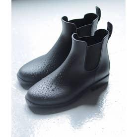 防水サイドゴアレインブーツ (ブラック)