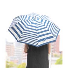 PUコーティング加工のボーダー柄日傘 (BLUE)