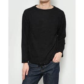 モール系裾ドロスト付きカットソー (Black)