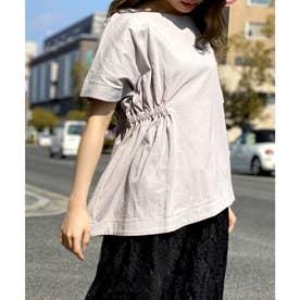 Emma(エマ)アシンメトリープルオーバーシャーリング Tシャツ (グレー)