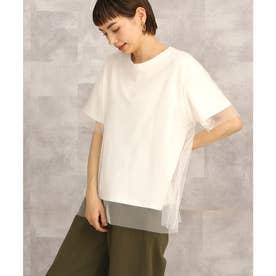 【nod(ノッド)】チュール付きTシャツ (オフ)