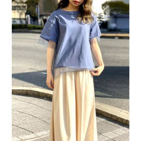 【nod(ノッド)】チュール付きTシャツ (ブルー)