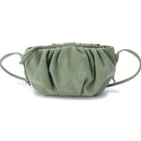 ギャザー使いスモールショルダーバッグ (グリーン(022))