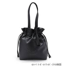 【限定コラボ/数量限定】スマイルメタリック巾着バッグ (ブラック)