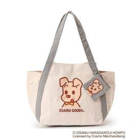 【コラボ】OSAMU GOODS バルーントートバッグ(ミニポーチ付き) (グレー/ドッグ)