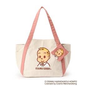 【コラボ】OSAMU GOODS バルーントートバッグ(ミニポーチ付き) (ピンク/ジャック)
