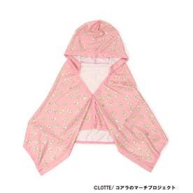 【コアラのマーチ】フード付きクールタオル (ピンク)
