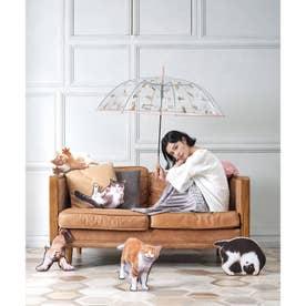 【Wpc.沖昌之さんコラボ】ねこ雨傘(長傘) (チャトラ猫)