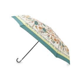because スカーフプリント折り畳み傘 (グリーン)