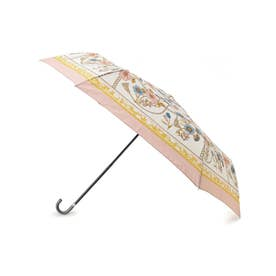 because スカーフプリント折り畳み傘 (ピンク)