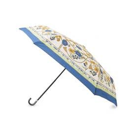 because スカーフプリント折り畳み傘 (ブルー)