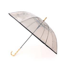 【Wpc.】バンブーハンドルビニール傘 長傘 (ブラック)