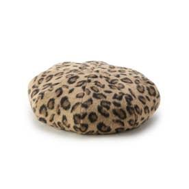 リバ-シブルボアベレー帽 (ヒョウブラウン(442))