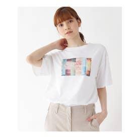 【M-L】カラーフォトプリントTシャツ (ホワイト(002))