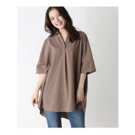 ビッグスキッパーシャツ (タバコブラウン(054))