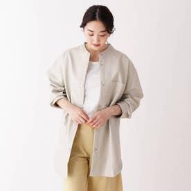 エコレザーシャツジャケット (ナチュラル)