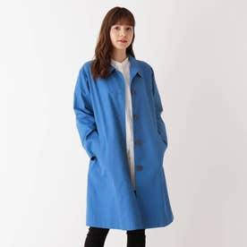 【M-3L】リラックスステンカラーコート (ブルー)