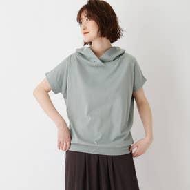 コットン混抜き衿Tシャツ (サックス)