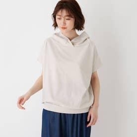 コットン混抜き衿Tシャツ (ナチュラル)