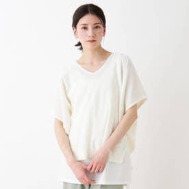 【2点セット】抜き衿ドルマンニットセット (アイボリー)