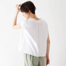 接触冷感配色ステッチTシャツ (オフホワイト)
