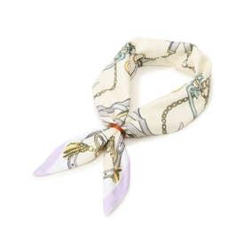 ひんやりリング付きスカーフ (アイボリー)