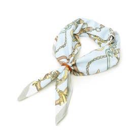 ひんやりリング付きスカーフ (ブルー)