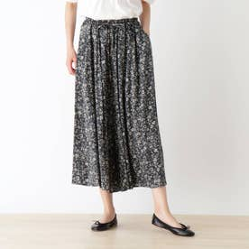 スカート見えサラサラガウチョパンツ (チャコールグレー)