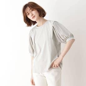袖切替Tシャツ (ライトグレー)