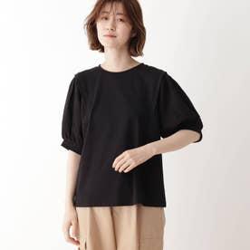 袖切替Tシャツ (ブラック)