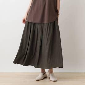 ギャザ-フレアースカート (ディープグレー)