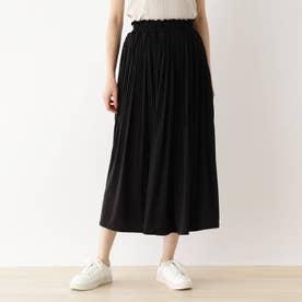 スムース消しプリーツスカート (ブラック)