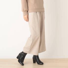 ◆【藤本美貴さん着用商品】コ-ディロイワイドパンツ (オフホワイト)